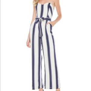 Edie Stripe Strapless jumpsuit